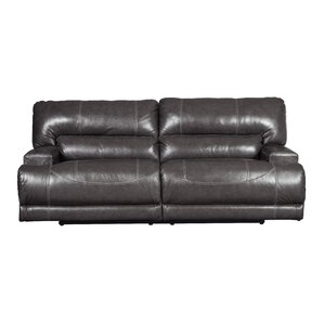 Casey Leather Reclining Sofa by Red Barrel Studio
