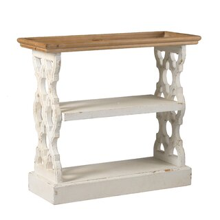 Birchfield Wood Shelf - Distressed White, Natural by Ophelia & Co. SKU:DB439071 Reviews