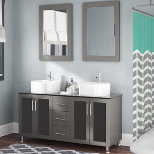 Purchase Cartert 60 Double Vanity Set with Mirror By Wade Logan