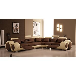 Hematite Reclining Sectional
