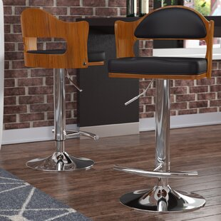 Shop For Cherryville Adjustable Height Swivel Bar Stool by Wade Logan Reviews (2019) & Buyer's Guide