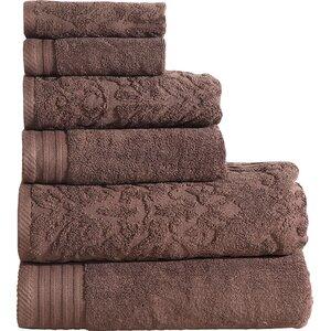 Jacquard 6 Piece Towel Set