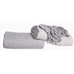 Celaya Diamond Cotton Throw (Set of 2)