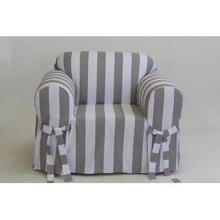 Stripe Box Cushion Armchair Slipcover by Breakwater Bay