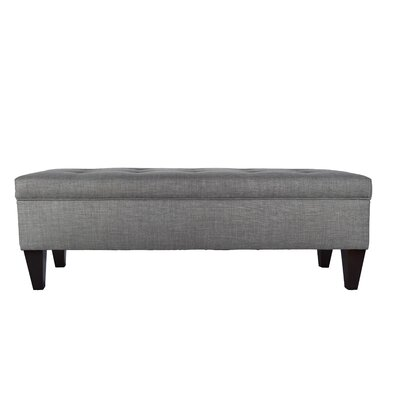 Gaither Upholstered Storage Bench Color: Dark Gray by Andover Mills