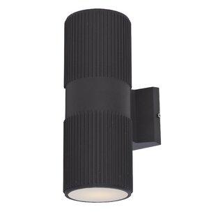 Savings Leilla 2-Light LED Outdoor Sconce By Orren Ellis
