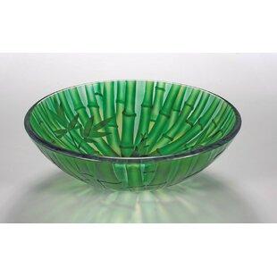 Deals Glass Circular Vessel Bathroom Sink ByLegion Furniture