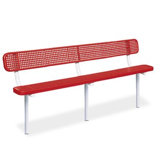 Victory Perforated Steel Park Bench