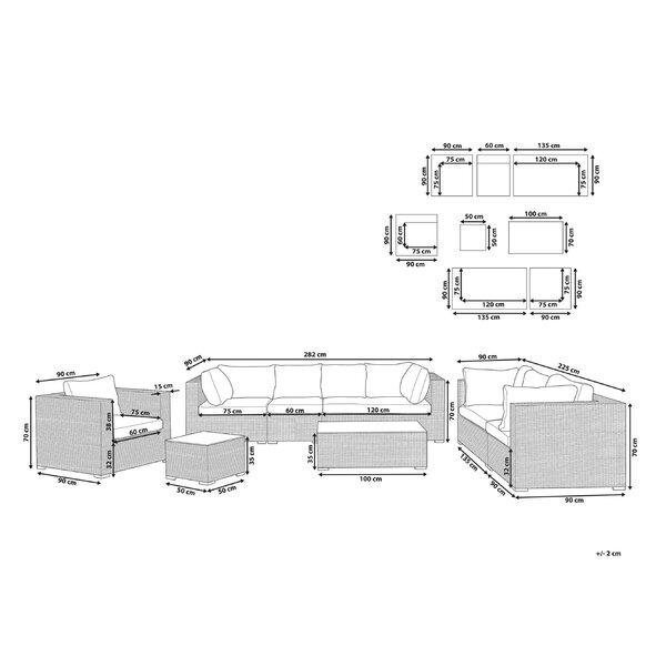 Mujde 8 Seater Rattan Sofa Set
