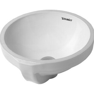 Shop For Architec Ceramic Circular Undermount Bathroom Sink with Overflow By Duravit