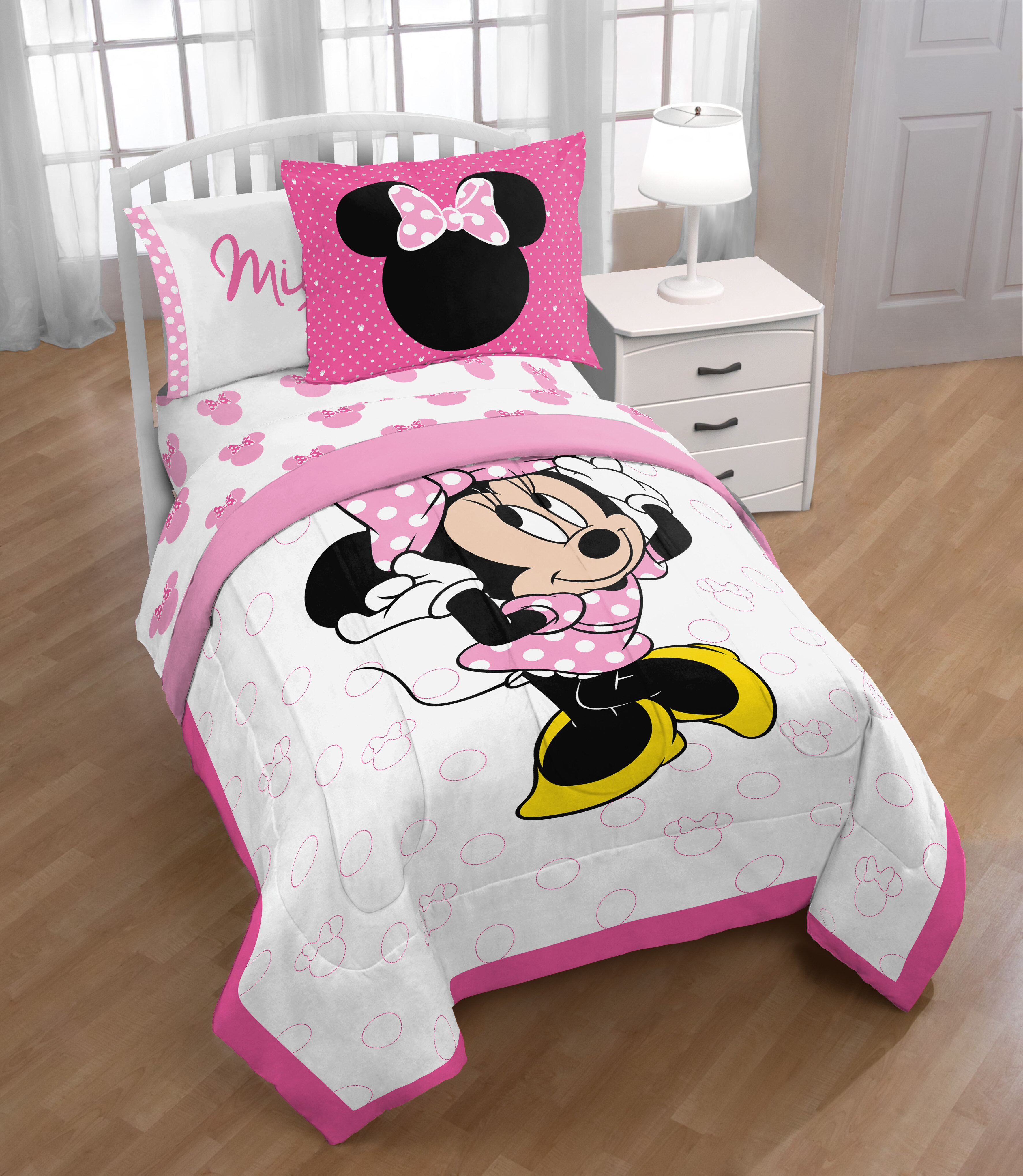 Disney Minnie Mouse Twin//Full Comforter and Sham Set 2 Piece