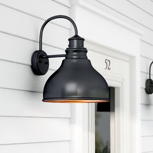 Photocell included outdoor wall lighting youll love wayfair lavardin 1 light outdoor wall lantern aloadofball Image collections