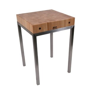 Metropolitan Designer Prep Table with Butcher Block Top by John Boos