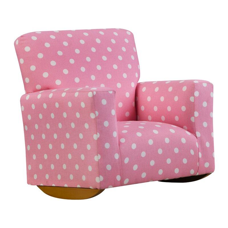 Alisa Polka Dot Kids Cotton Rocking Chair
