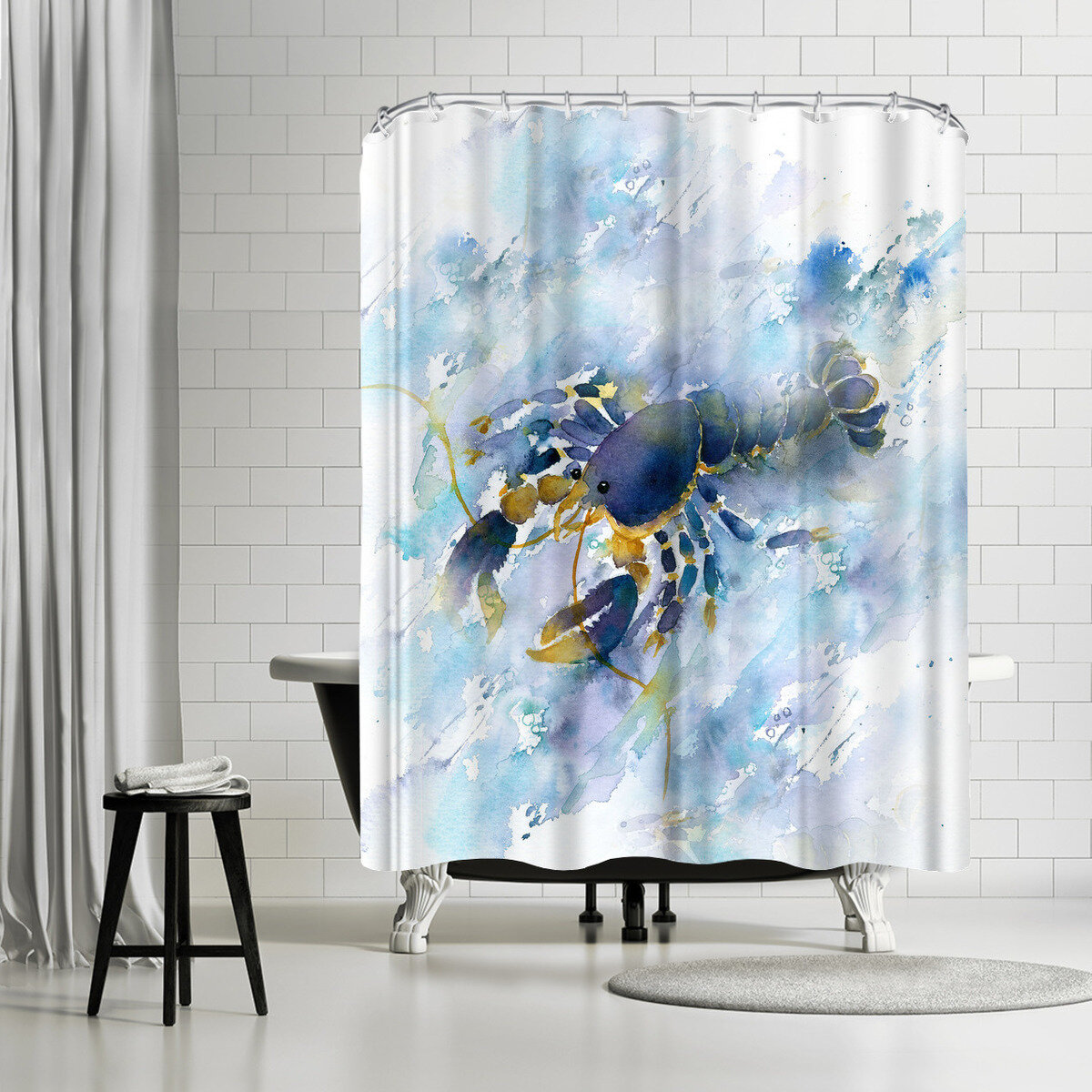 East Urban Home Rachel Mcnaughton Lobster Single Shower Curtain Wayfair