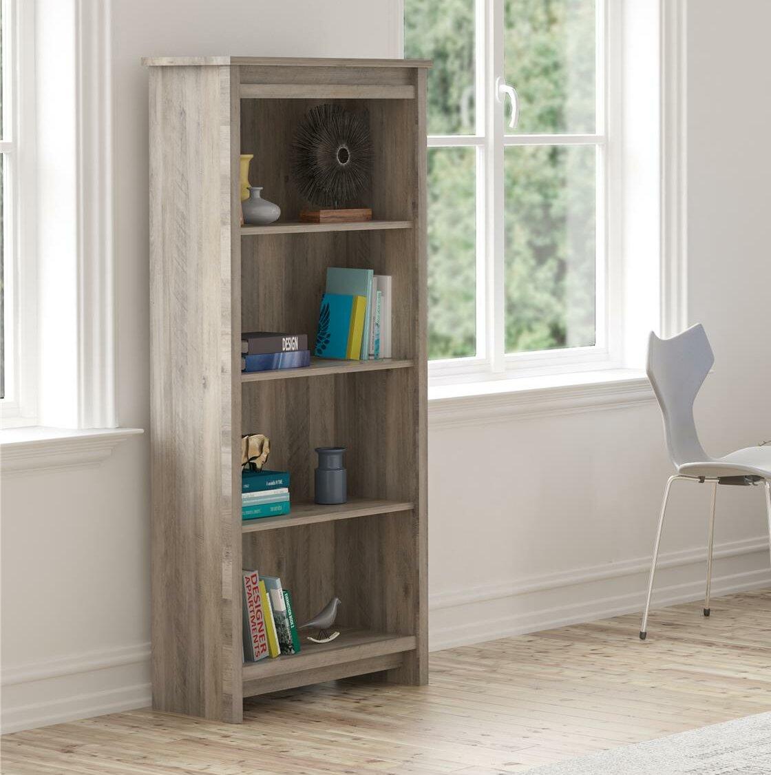 Bassinger 4 Shelf Bookcase Grey Oak