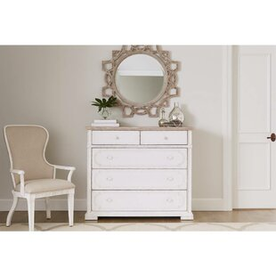 Read Reviews Juniper Dell 5 Drawer Dresser with Mirror by Stanley Furniture