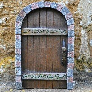 Castle Kingdom Fairy Pixie Elf Stonework Garden Door