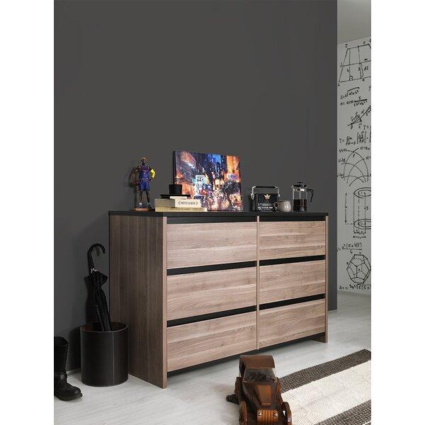 Harriet Bee Fleetwood 6 Drawer Double Dresser Wayfair