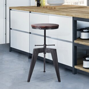 Kerner Adjustable Height Swivel Bar Stool by Williston Forge