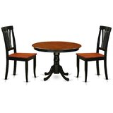 Artin 3 Piece Rubber Solid Wood Dining Set by Andover Mills™