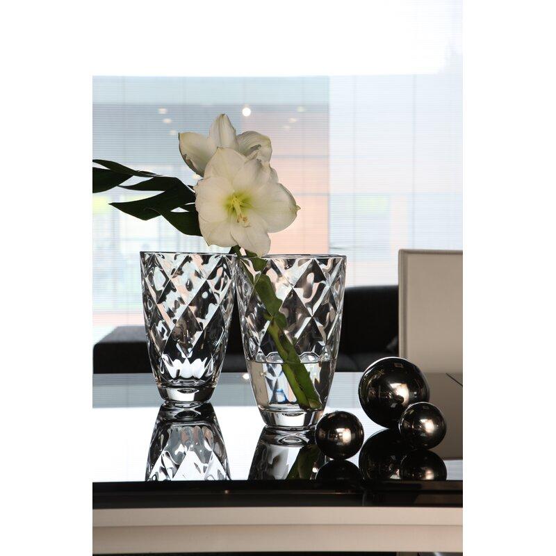 Orren Ellis Mylo Clear Glass Table Vase Wayfair