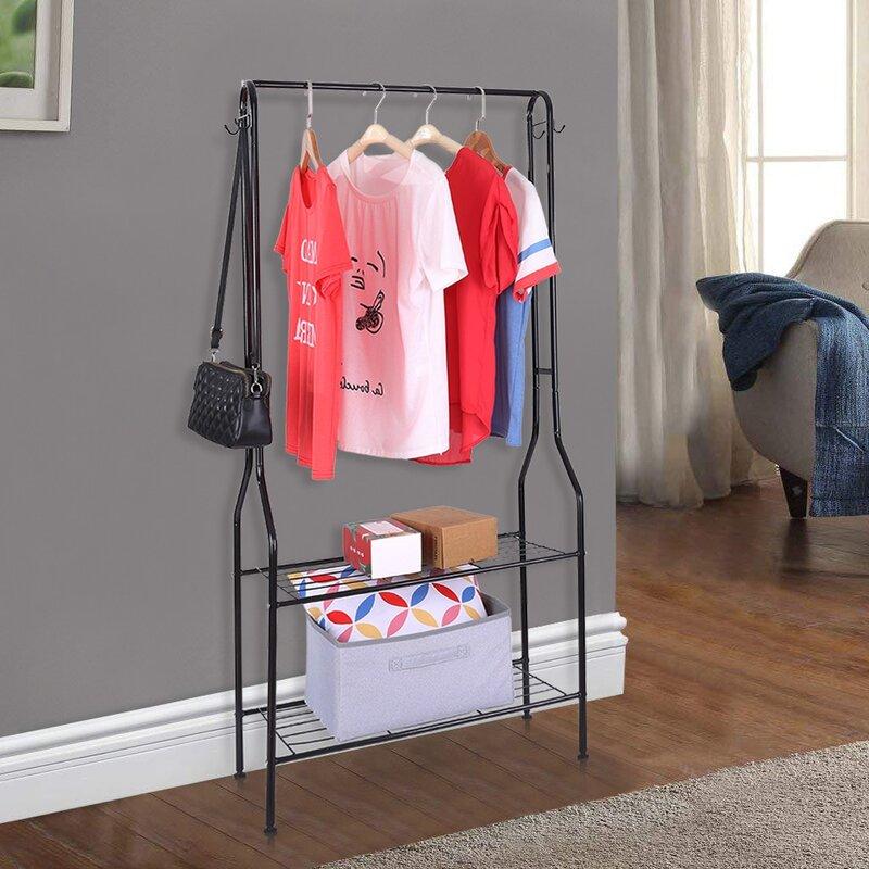 """Rebrilliant Appalachia 28"""" W Floor Indoor Coat Bedroom Drying Rack"""