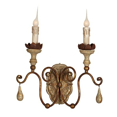 Caravelle 2-Light Candle Wall Light