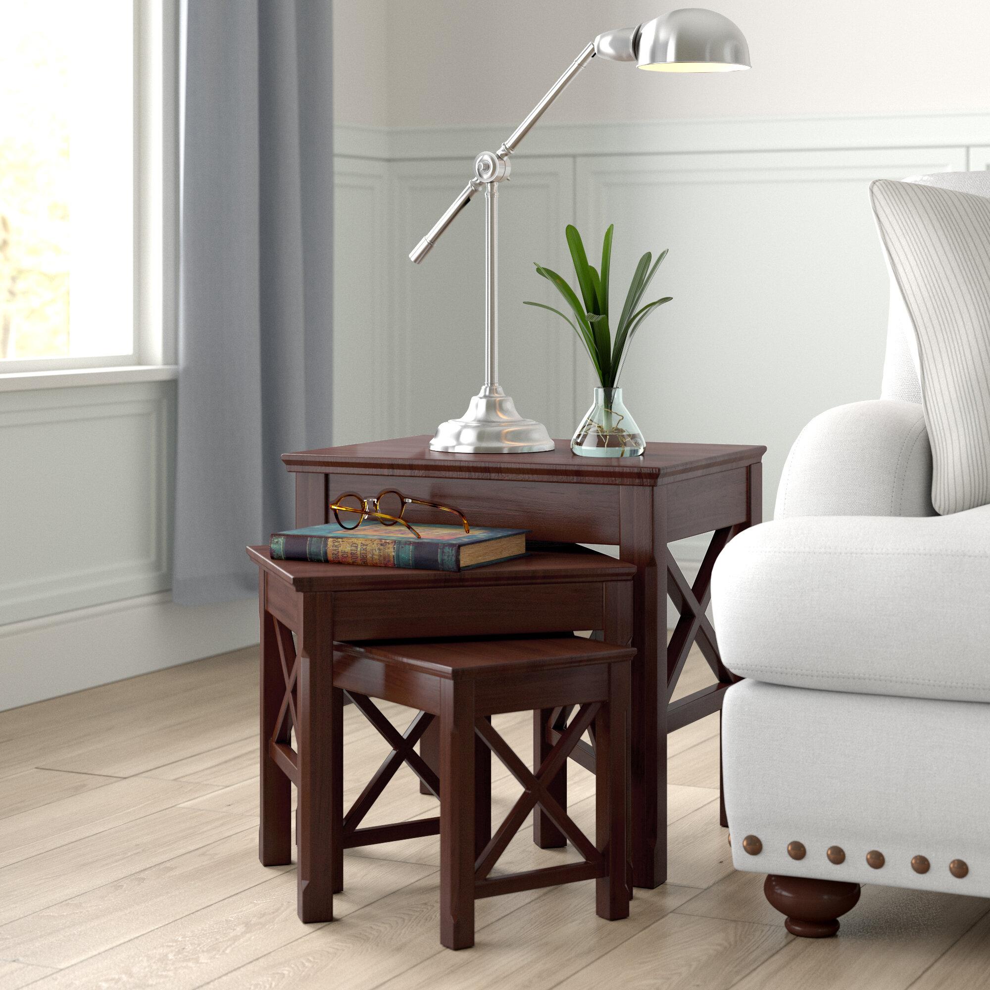 Medium Wood Rectangle Nesting Tables You Ll Love In 2021 Wayfair