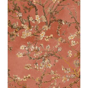 Van Gogh Blossoming Almond Trees 33 X 20 8 Fl And Botanical Plaster Wallpaper Roll