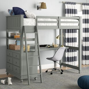 Nickelsville Loft Bed With Desk