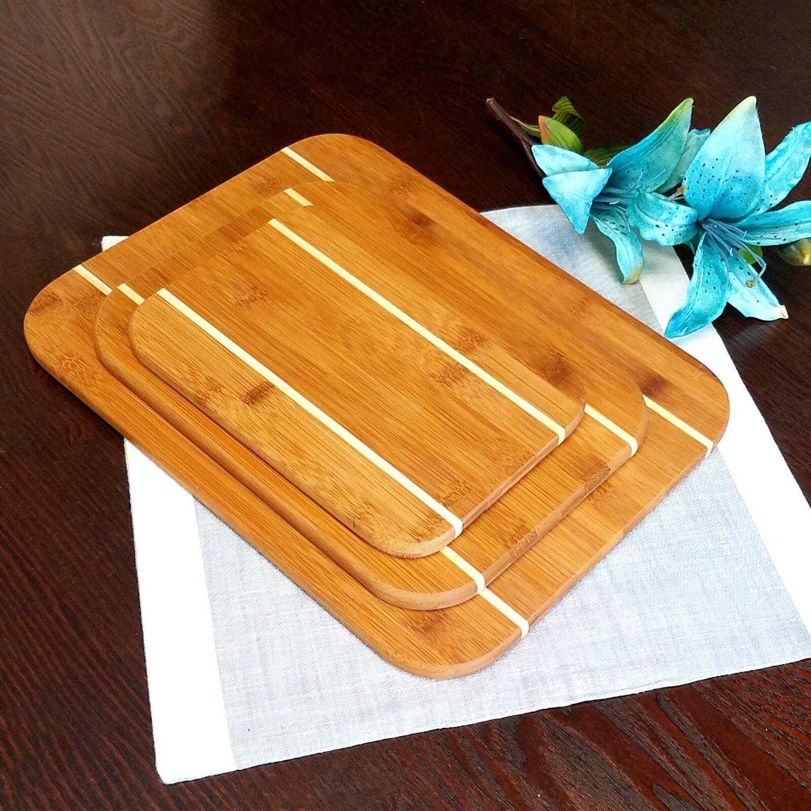 Gibson Dewport 3 Piece Bamboo Cutting Board Set Wayfair