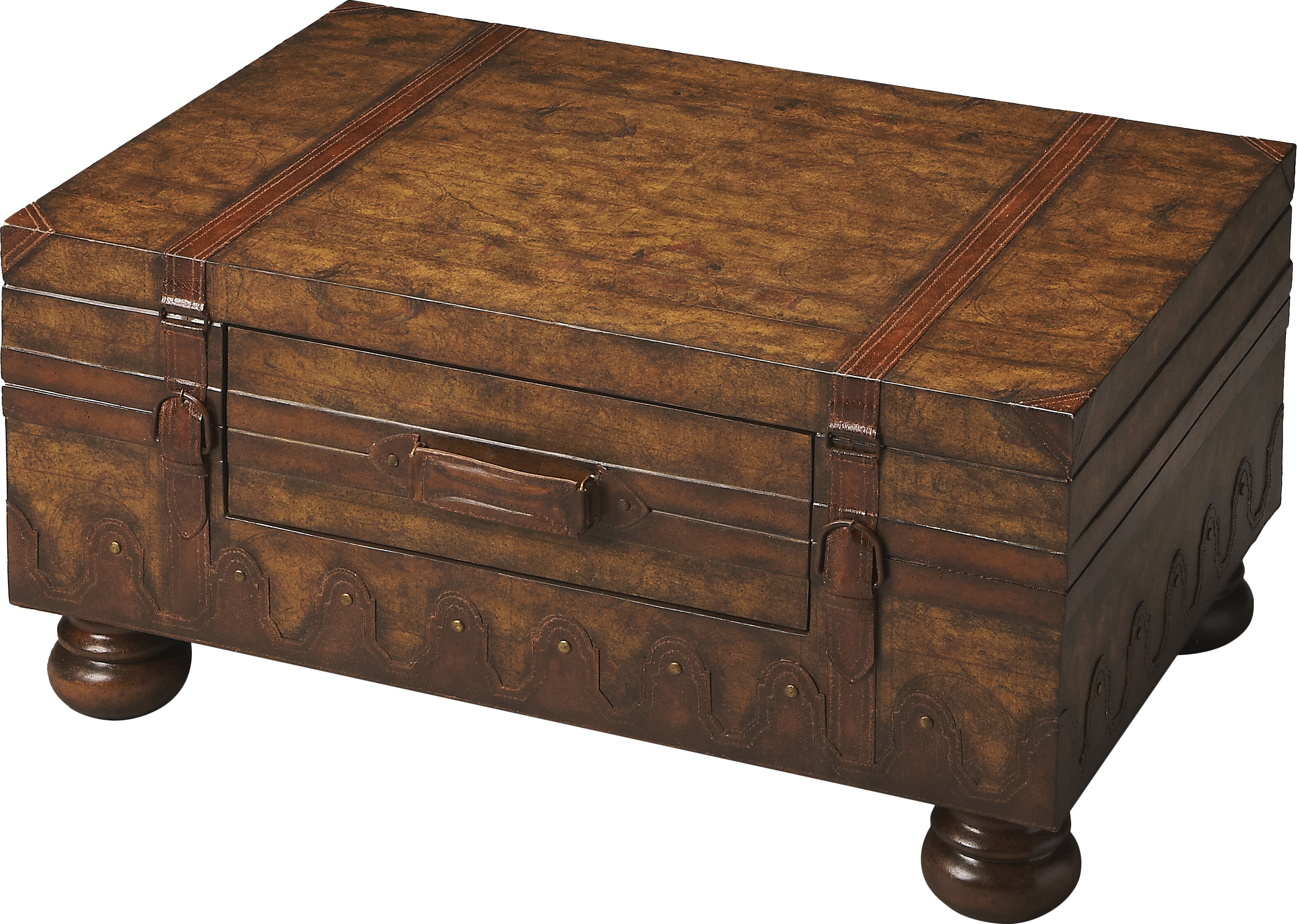Butler Emmett Coffee Table with Trunk & Reviews