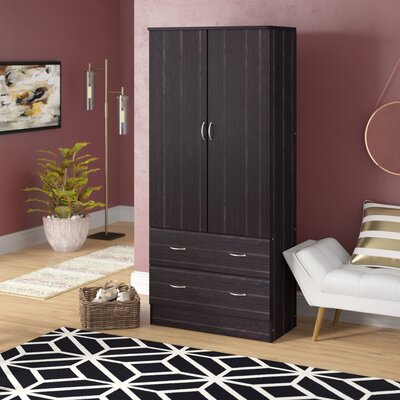 Ebern Designs Guerrera Wardrobe Armoire Colour: Chocolate