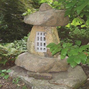 4 Piece Garden Stone Lantern Set