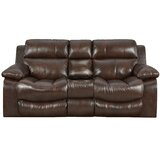 Positano 79 Wide Leather Match Pillow Top Arm Reclining Loveseat by Catnapper