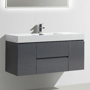 Leni 47 Wall-Mounted Single Bathroom Vanity Set by Orren Ellis