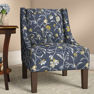 Moorcroft Floral Side Chair by Alcott Hill