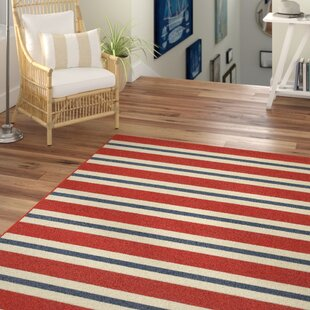 Find a Kailani Red/White Indoor/Outdoor Area Rug ByBeachcrest Home