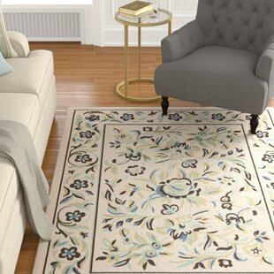 Rennie Beige/Blue Indoor/Outdoor Area Rug