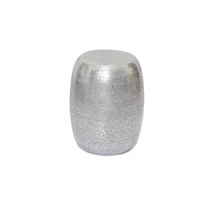 Marrakech Hammered Metal Round End Table by ..