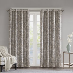 Jenelle Paisley Max Blackout Thermal Grommet Single Curtain Panel by SunSmart
