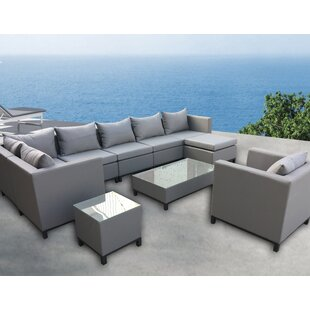 Honeycutt 10 Piece Sectional Set with Cushions