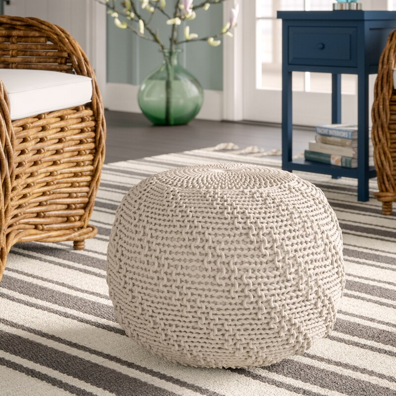 Breakwater Bay Knitted Pouf Reviews Wayfair