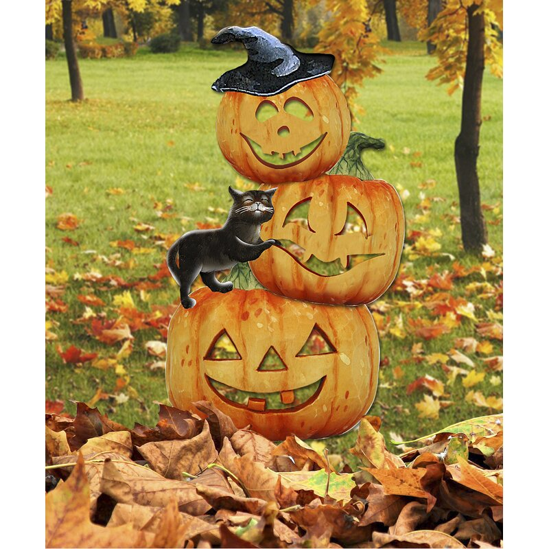 Scary Stocking Pumpkins Decor