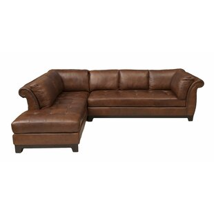Jeanine Leather Sectional by Darby Home Co