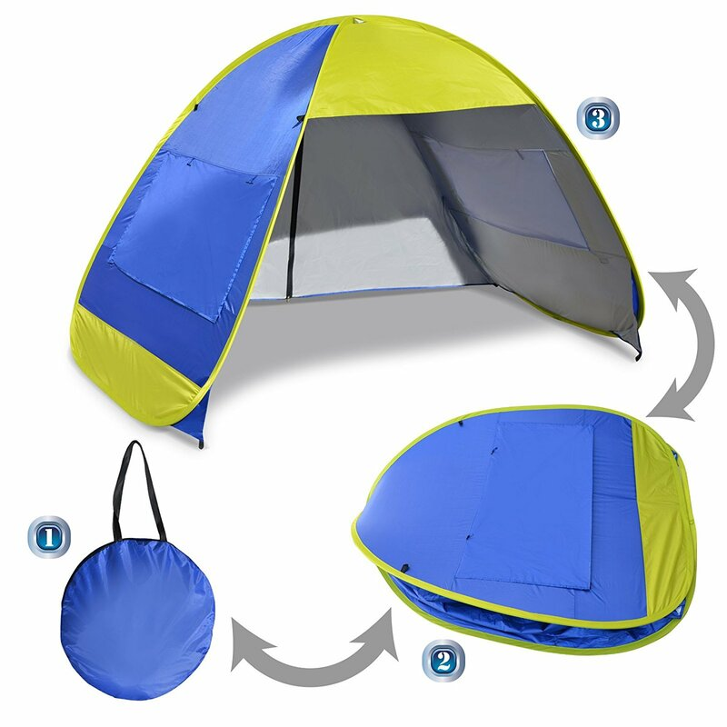 Instant Pop Up Beach Tent Portable Canopy Sports Sun Shade Outdoor Hiking  Travel Camping Napping 4