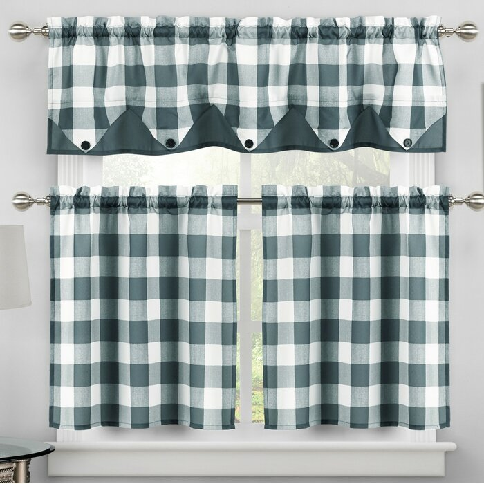 Ilona 3 Piece Kitchen Curtain Set