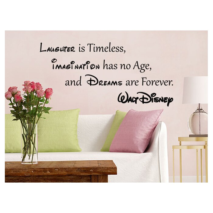 Quote Mickey Mouse Vinyl Sticker Laughter Is Timeless Nursery Wall Decal