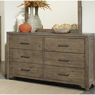 Saucedo 6 Drawer Double Dresser